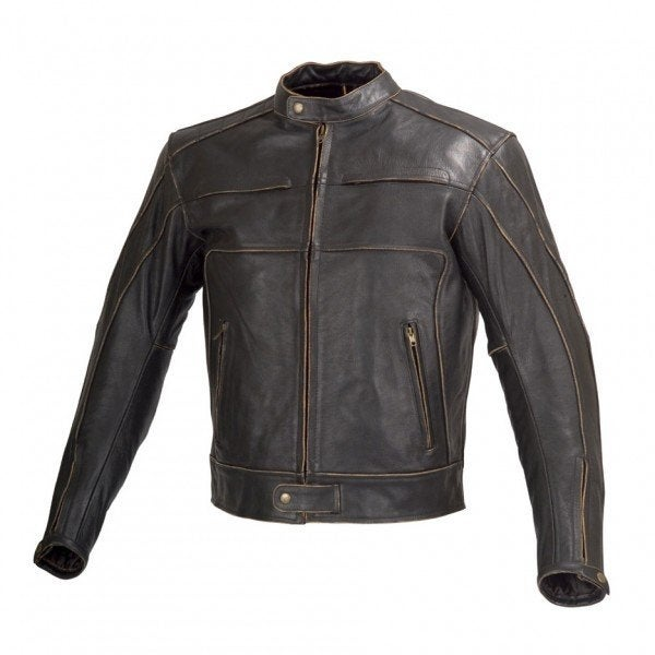 Shop Men Motorcycle Armor Leather Jacket Vintage Style By Xtreemgear