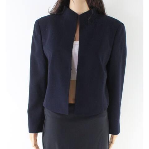 Akris Women's Kiss Front High Neck Jacket Wool Blend
