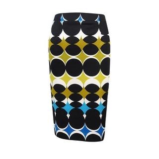 Nine West Women's Circle Printed Ponte Skirt