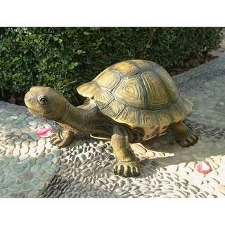 Design Toscano The Tranquil Tortoise Garden Sculpture: Large