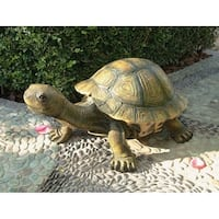 Design Toscano The Tranquil Tortoise Garden Sculpture: Large