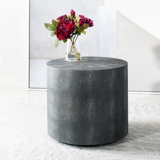 Safavieh Couture High Line Collection Diesel Faux Shagreen Black End Table