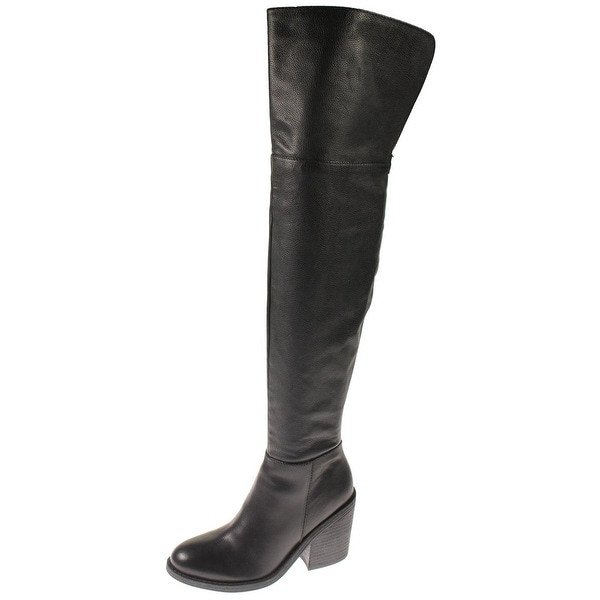 Steve Madden Womens Makayla Thigh-High Boots Pebbled Leather