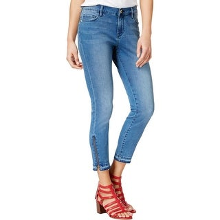 Tommy Hilfiger Womens Ankle Jeans Whisker Wash Faded