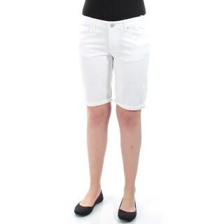 AMERICAN RAG $90 Womens New 1024 White Cuffed Casual Jeans Juniors 7 B+B