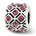 Sterling Silver Reflections October Swarovski Elements Bead (4mm Diameter Hole) - Thumbnail 0
