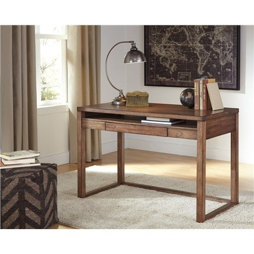 Shop Baybrin Rustic Brown Home Office Small Desk H587 10