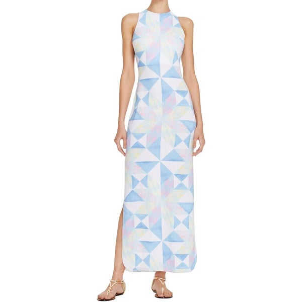 Mara Hoffman Womens Fractals Column Maxi Dress Modal Blend Printed