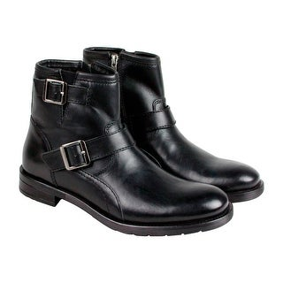 GBX Braddock Mens Black Leather Boots Strap Boots Shoes