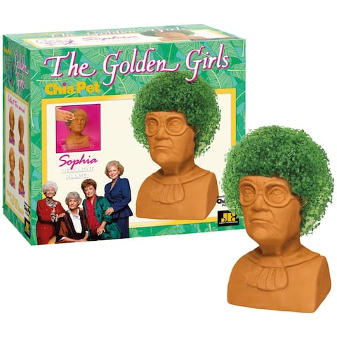 Joseph Enterprises The Golden Girls Sophia Chia Pet Head - Estelle Getty Decorative Planter, Classic '80s TV Sitcom Character