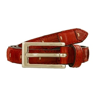 Renato Balestra LUCA ROSSO Red Leather Mens Belt-38.5in