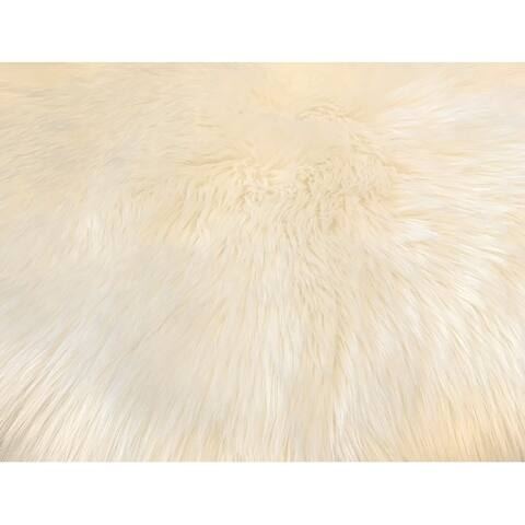 Ovella Home Premium Faux Sheepskin Plush Shag Area Rug