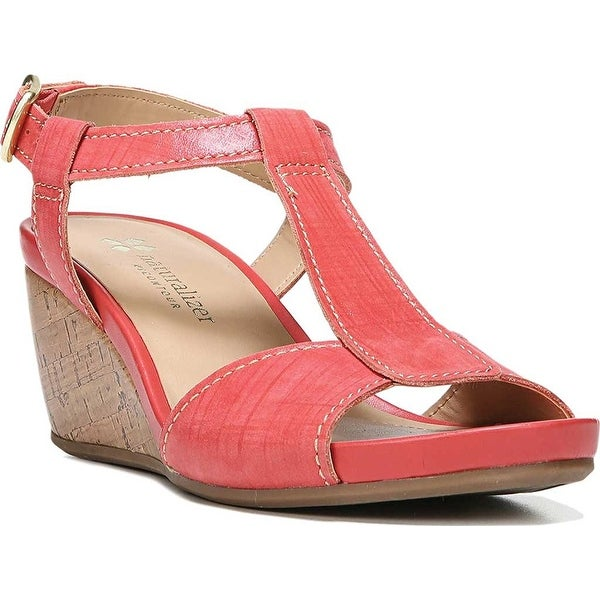 Naturalizer Womens Camilla Leather Open Toe Casual Platform Sandals