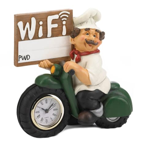 """Chef W/Wifi Sign and Clock 6.75x3.5x6.25"""""""