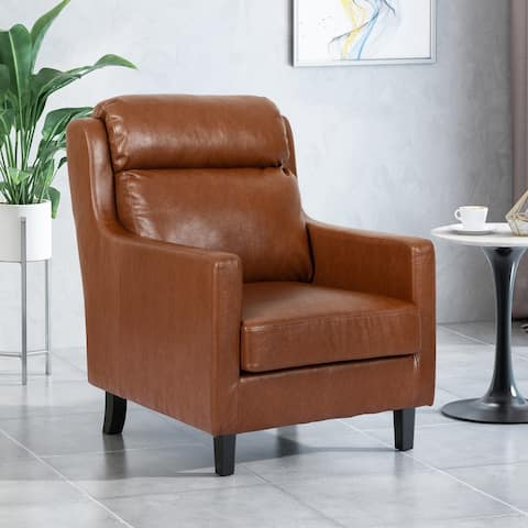 Bucklin Contemporary Pillow Tufted Club Chair by Christopher Knight Home