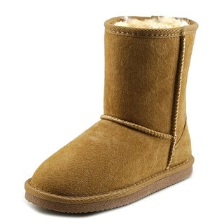 Lamo Kids Classic Boot Youth Round Toe Suede Tan Winter Boot