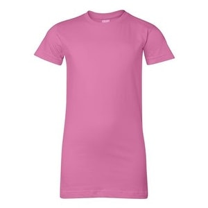 Junior Fit Fine Jersey Tee - Raspberry - M