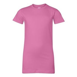 Junior Fit Fine Jersey Tee - Raspberry - XL