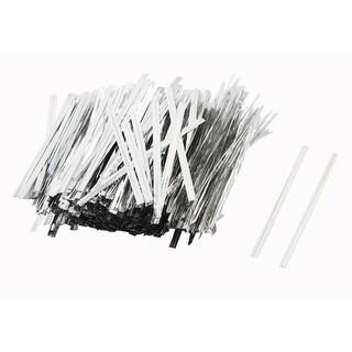 Unique Bargains Flexible Knoting 8cm String Silver Tone for Gift Bag