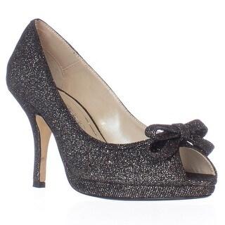 Caparros Impulse Peep Toe Dress Heels - Black