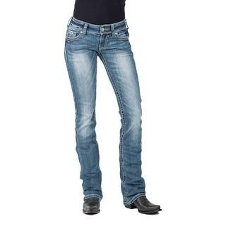 Stetson Western Denim Jeans Womens Low Rise Med 11-054-0818-0725 BU