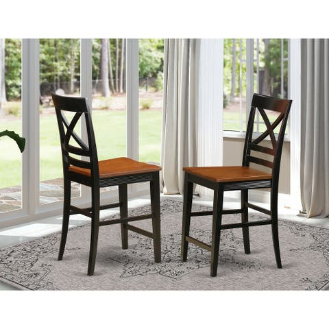 Quincy Counter-height X-back Barstools (Set of 2)