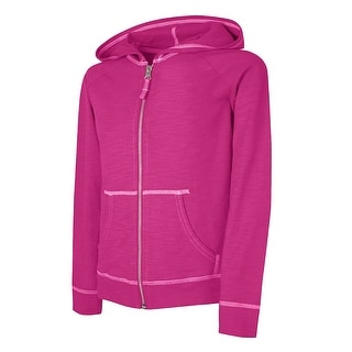 Hanes Girls' Slub Jersey Full-Zip Hoodie - XL