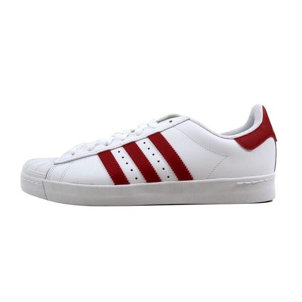 Shop Adidas Men's Superstar Vulc ADV WhiteScarlet Red Gold