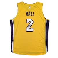 Lonzo Ball Autographed Los Angeles Lakers Signed Basketball Jersey Beckett BAS COA 2