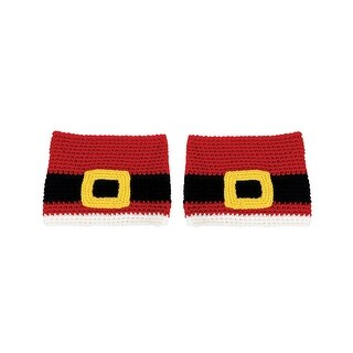 Design Engineering Women's Santa Belt Boot Cuffs - Mr. Mrs. Claus Boot Toppers - 2 in. x 1 in. x 7 in.