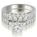 1.70 cttw. 14K White Gold Prong Set Round Cut Diamond Bridal Set - Thumbnail 0
