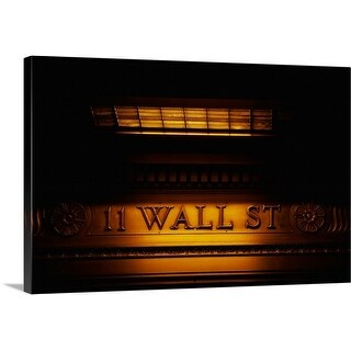 Premium Thick-Wrap Canvas entitled 11 Wall St. Building Sign