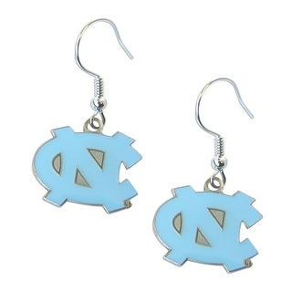 North Carolina Tarheels UNC Dangle Logo Earring Set NCAA Charm Gift
