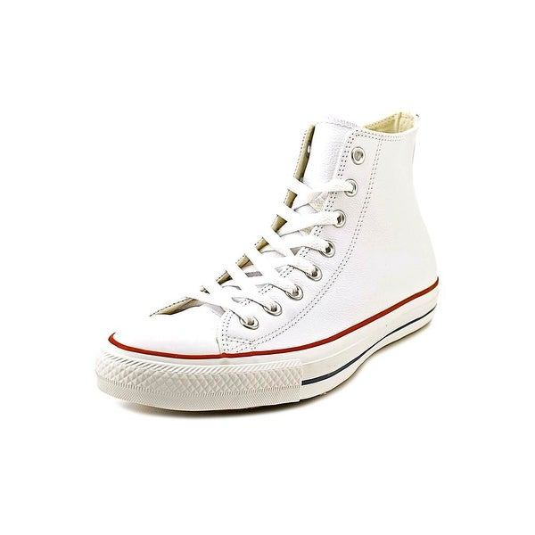 Converse Chuck Taylor Hi Men Round Toe Leather White Sneakers