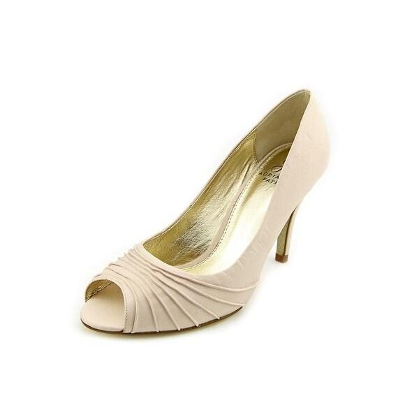 Adrianna Papell NEW Beige Women Shoe Size 10M Farrel Open Toe Pump