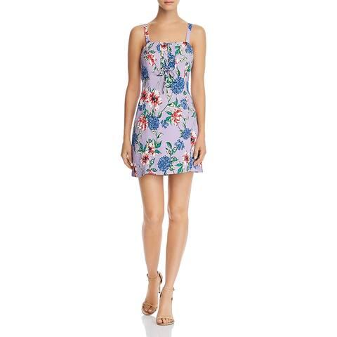 Parker Womens Imogen Mini Dress Floral Lace-Up - Lais Fleur