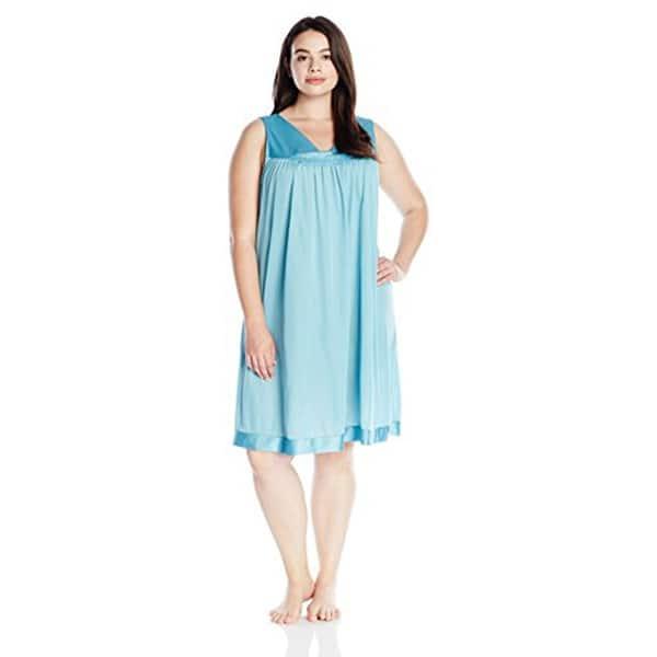 69df9d0071 ... Vanity Fair Women s Plus Size Coloratura Sleepwear Short Gown 30807 ...
