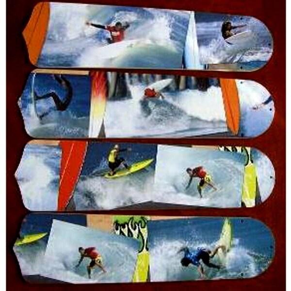 Radical Surfing Custom Designer 42in Ceiling Fan Blades Set - Multi