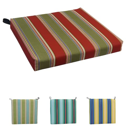 20-inch by 19-inch Patterned Outdoor Chair Cushion