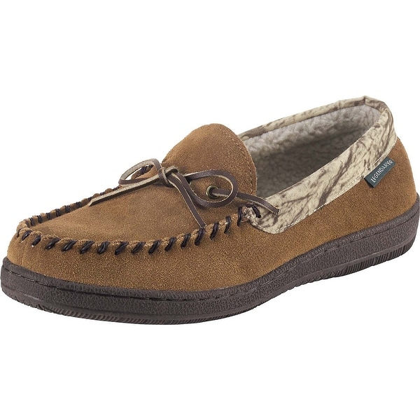 Legendary Whitetails Mens Camo Pioneer Suede Moccasin - Brown