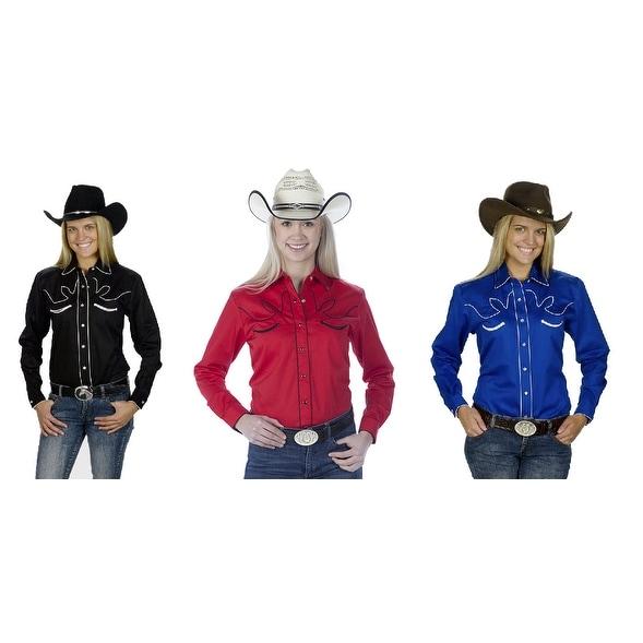 27d081ee Women's Cotton Retro Western Cowboy Shirt