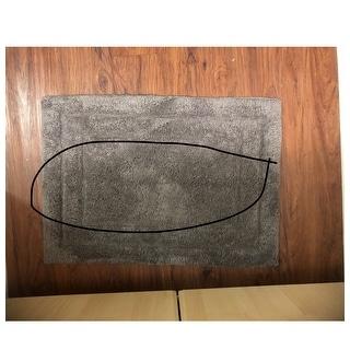Benzara Classic Platinum Grey 2-piece Bath Rug Set
