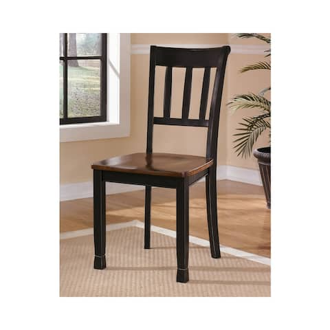 Owingsville Black and Brown Farmhouse Dining Room Chairs (Set of 2)