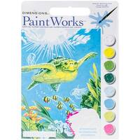 "Paint Works Paint By Number Kit 9""X12""-Swimming Turtle"
