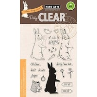 "Color Layering Rabbit - Hero Arts Clear Stamps 4""X6"""