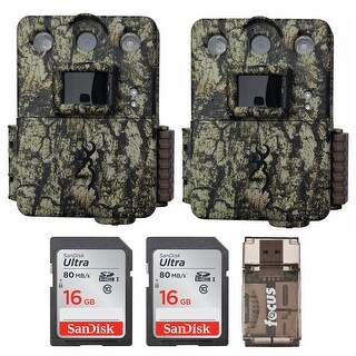Browning Command Ops Pro Trail Camera (2) with 16GB Card (2) and USB Reader - Camouflage