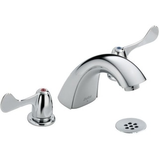 Delta 3549LF-WFHDF Commercial Widespread Bathroom Faucet - Free Grid Strainer with purchase