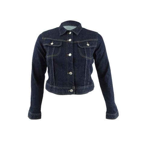 Lauren Ralph Lauren Women's Western Denim Jacket (L, Blue)