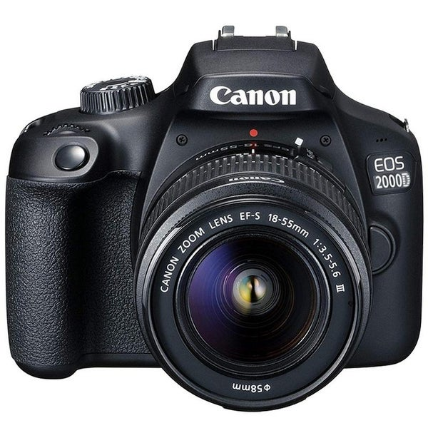 Canon EOS 2000D / Rebel T7 24.1MP DSLR Camera with EF-S 18-55mm Lens. Opens flyout.