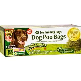 Green-n-Pack Dog Poo Bags Xtra Giant Ties - 100 Ct